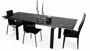 Salle A Manger Noir : table rabattable cuisine paris table salle a manger noire ~ Teatrodelosmanantiales.com Idées de Décoration