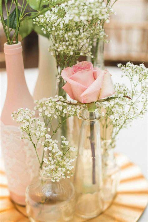 Centerpiece Reclaimed W Blossom Gold Wine Bottle Wedding