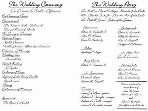 creative wedding programs wedding ceremony programs With examples of wedding programs templates