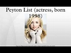 Peyton List (actress, born 1998) - YouTube