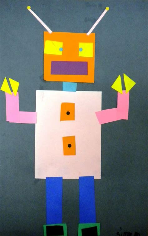 geometric shape robots kindergartenfirst grade school pinterest  shapes count