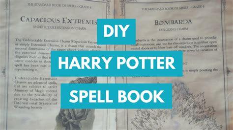 diy harry potter spellbook youtube