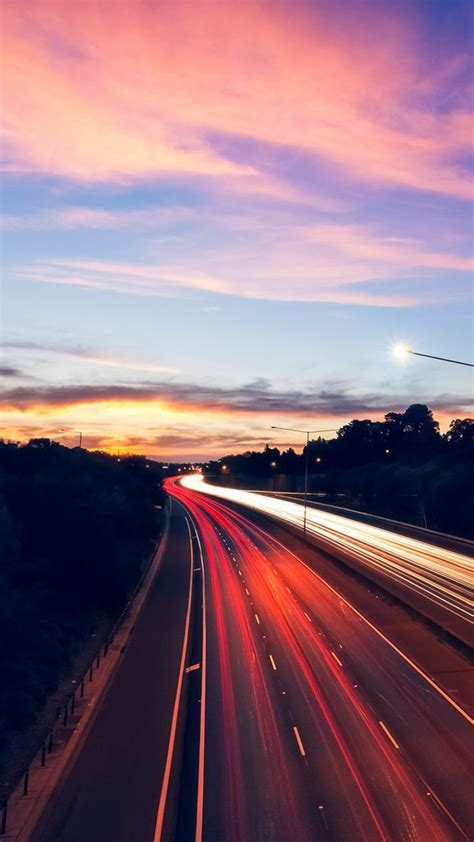 sunset highway lights wallpaper iphone wallpaper iphone