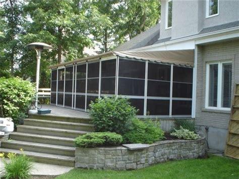 home attached screenrooms deck enclosure kits  canada