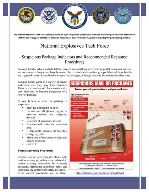 fbi gov file repository cover letter suspicious package indicators fbi