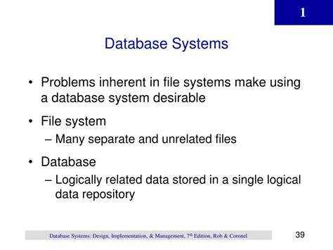 database systems design implementation and management ppt chapter 1 powerpoint presentation id 518168
