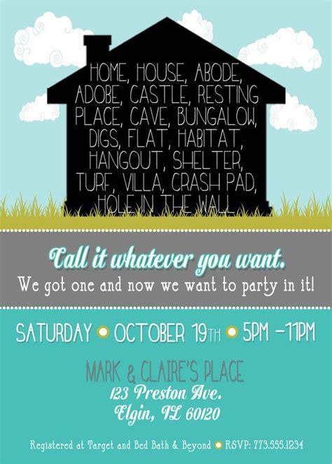 fun housewarming invitation invitations