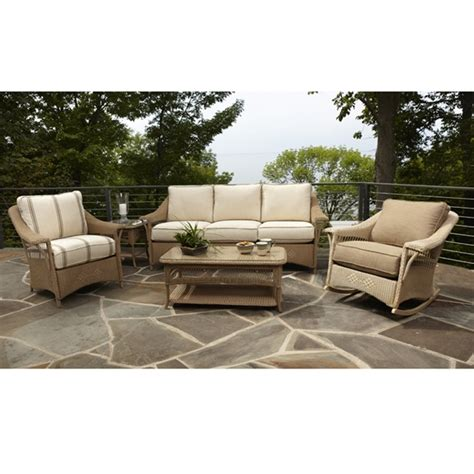 lloyd flanders nantucket wicker sofa patio set lf