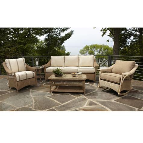 lloyd flanders nantucket wicker sofa patio set lf