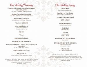 Wedding programs hotcvblog for Image of wedding program