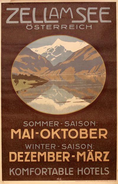 original vintage poster zell    sale