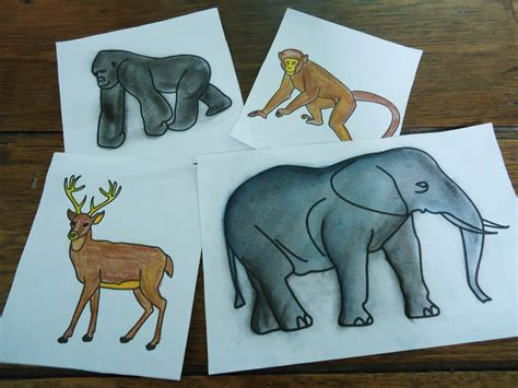 mini jungle tutorial  hand drawn animals mom