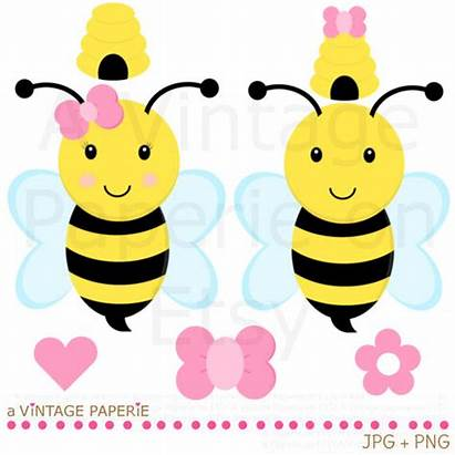 Bee Bumble Clipart Clip Floral Busy Clipground