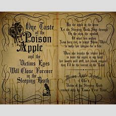 Poison Apple Sleeping Death Spell Chant Printable Quote Set