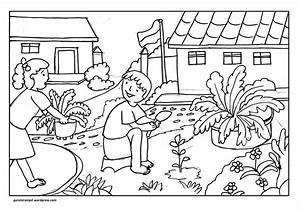 Gambar Rumah Untuk Anak Tk Mewarnai Gambar Orang Untuk Tk Mewarnai