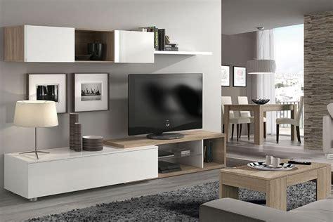 mueble de salon comedor naia en color blanco  roble canadian al mejor precio