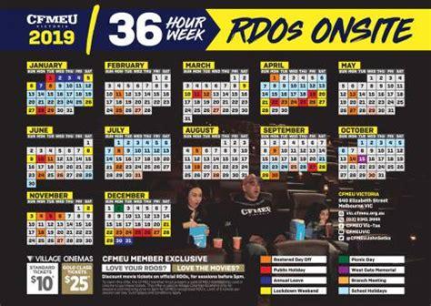 rdo calendar