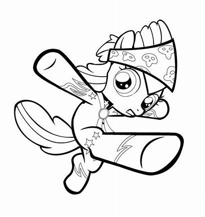 Pages Scootaloo Coloring Pony Colouring Applebloom Apple