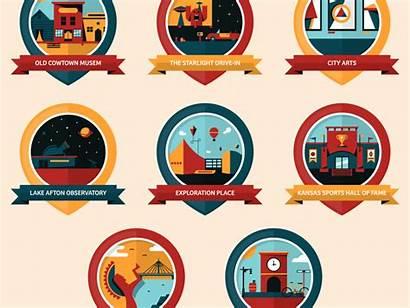 Badges Skillshare Badge Dribbble Vector Gifs Flat