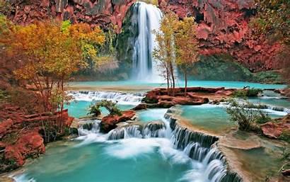 Wallpapers Desktop Backgrounds Mountain Waterfall Background Computer