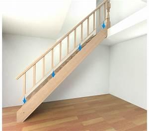 Comment Fixer Un Poteau Bois Au Sol : comment poser un escalier droit castorama ~ Dailycaller-alerts.com Idées de Décoration