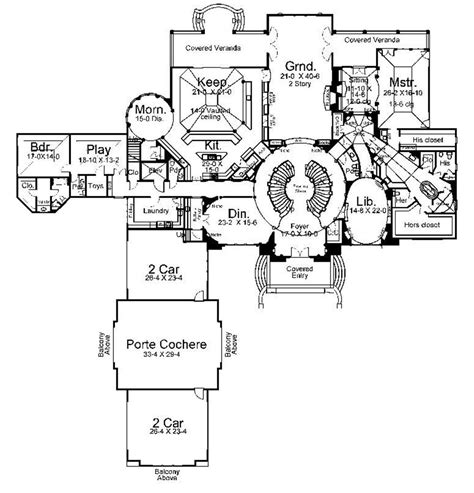 big houses floor plans large home plans 6 large luxury house floor plans