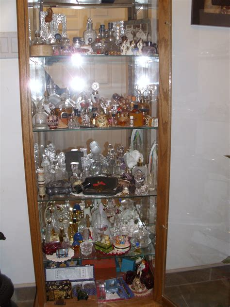 display cases  perfume bottle collection