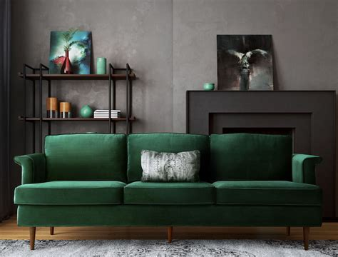 porter forest green sofa  tov coleman furniture
