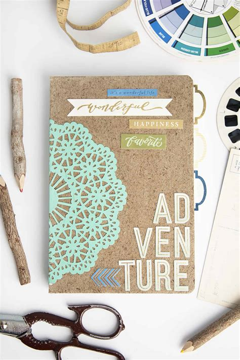adventure themed diy notebook gift mod podge rocks