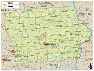 Physical Map Of Iowa
