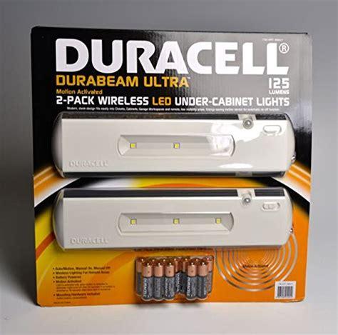 duracell led cabinet light 2 pack home garden