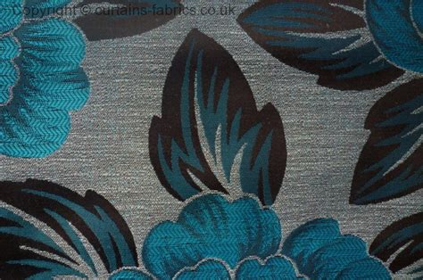 Harmony Sold Out By Monkwell In Teal Curtain Fabric