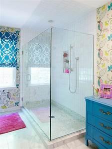 Photos Hgtv Tween Girls Bathroom With Glass Shower ~ idolza