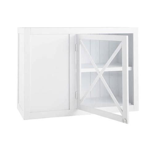 meuble haut d angle cuisine meuble haut d 39 angle vitré de cuisine ouverture gauche en