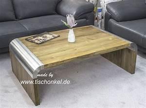 Couchtisch Holz Modern : design couchtisch mit edelstahl der tischonkel ~ Markanthonyermac.com Haus und Dekorationen