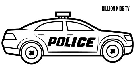 vehicles coloring pages policeman car coloring pages