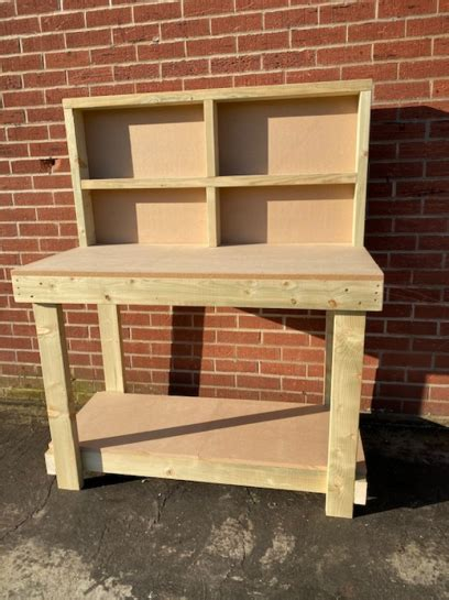 ft mdf top workbench  divided backboard heavy duty