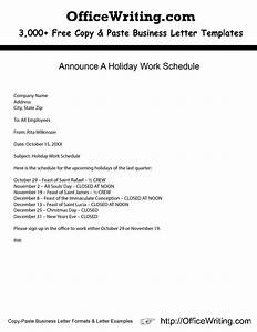 Holiday Closing Announcement Letter FindLegalForms - satukis info