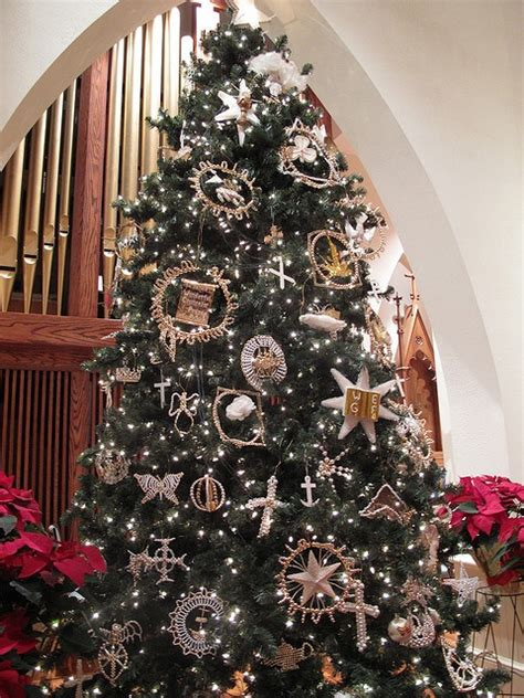 luthers christmas tree tree in the lutheran church gold and white and beautiful