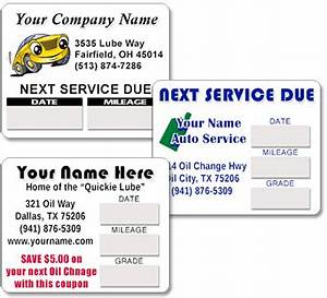 car service reminder stickers kamos sticker With custom oil change stickers