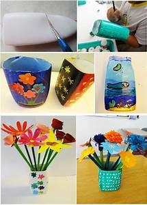 Flower, Vase, Out, Of, Plastic, Bottle