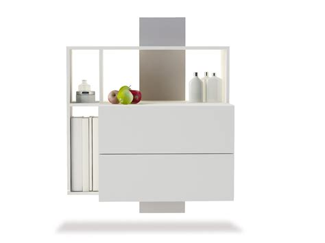 floating nightstand with drawer bedroom minimalist wooden floating bedside table combined