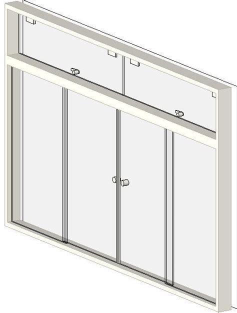 revitcitycom object  pane sliding windows  double  quadruple awning transom