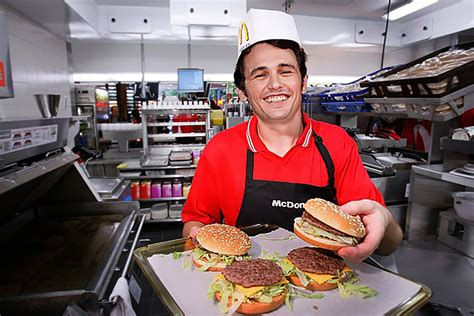 average fast food workerwho   james franco