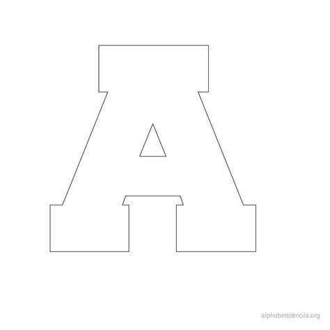 Block Letter Templates by Printable Alphabet Letter Stencils The Whole Alphabet In