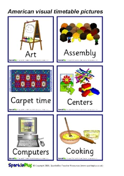 classroom visual timetable printable resources ks ks