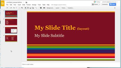 Slider Themes Slides Themes Changing An Existing Slides Doc From The