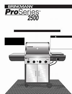 Brinkmann Gas Grill Pro Series 2500 User Guide