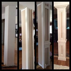 Do it yourself columns to divide living room and dining for Decorative interior wall columns