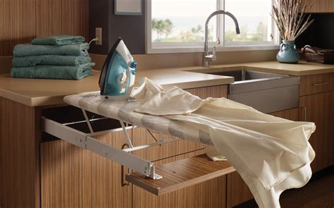 pull  ironing board wood mode fine custom cabinetry